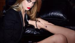 Cara Delevingne Smolders in the Sexually Scintillating Fall 2014 YSL Beauty Campaign