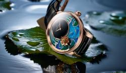 Jaquet Droz's Limited-Edition Petite Heure Minute Relief Carps Celebrates Love & Life