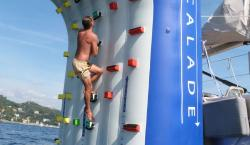Inflatable Climbing Wall Turns Your Superyacht Into An Outdoor Gym