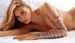 Cara Delevingne Poses Topless for John Hardy S/S 2015 Campaign