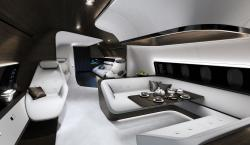 Mercedes-Benz and Lufthansa Team Up For Insanely Cool Private VIP Jet Cabin
