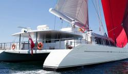 Buy Richard Branson's Necker Belle 105-Foot Sailing Catamaran With Open-Air Cinema