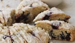 Win Over Anyone's Heart With These Warm Lemon-Glazed Blueberry Scones