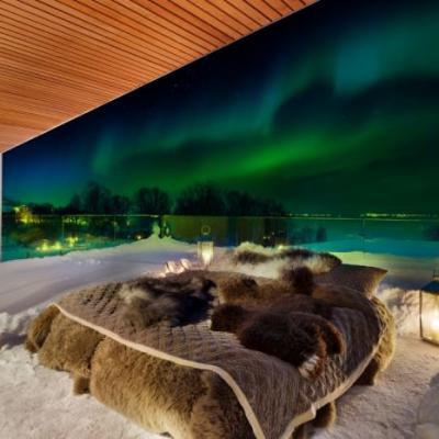 Travel Off The Map To Experience The Northern Lights While Staying In Bed