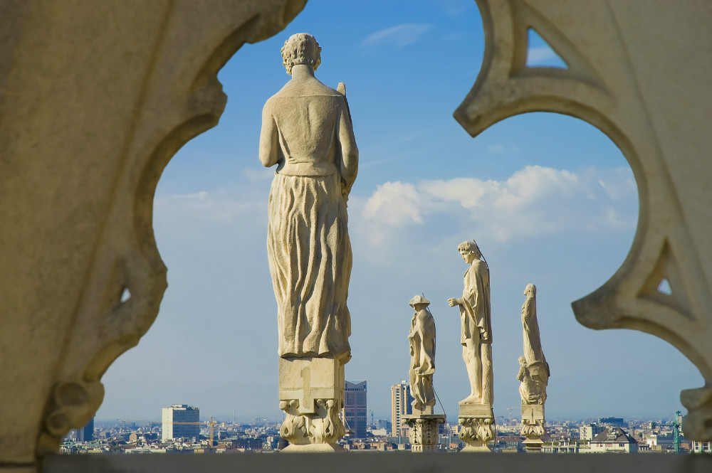 Statues at the Roof of Il Duomo di Milano