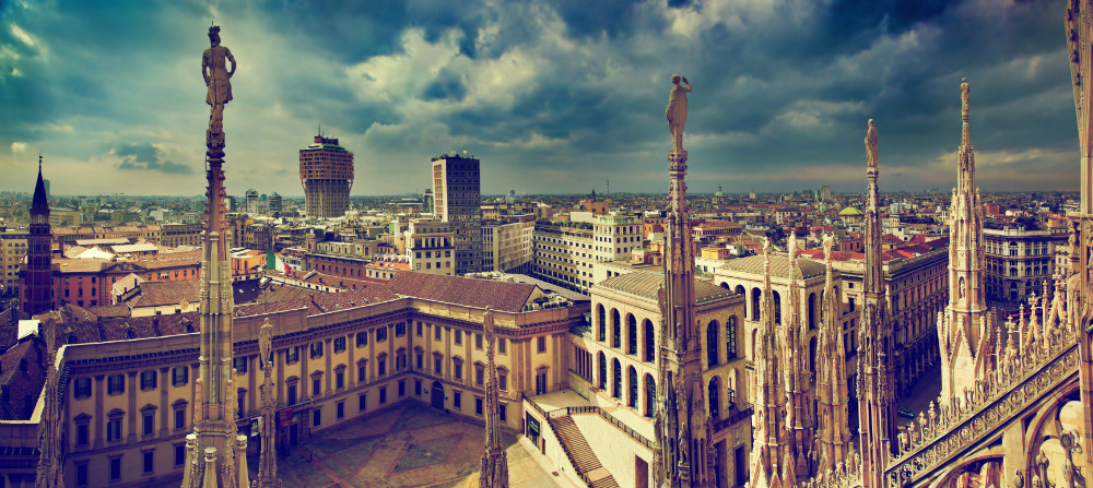 View from Milan Cathedral