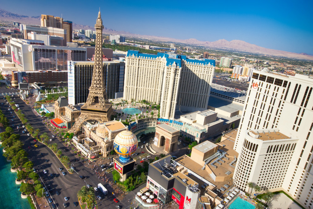 Aerial View of The Strip