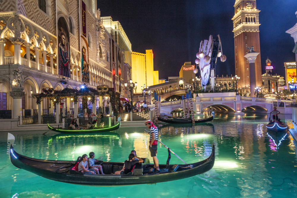 Gondolas at The Venetian Resort Hotel  Casino