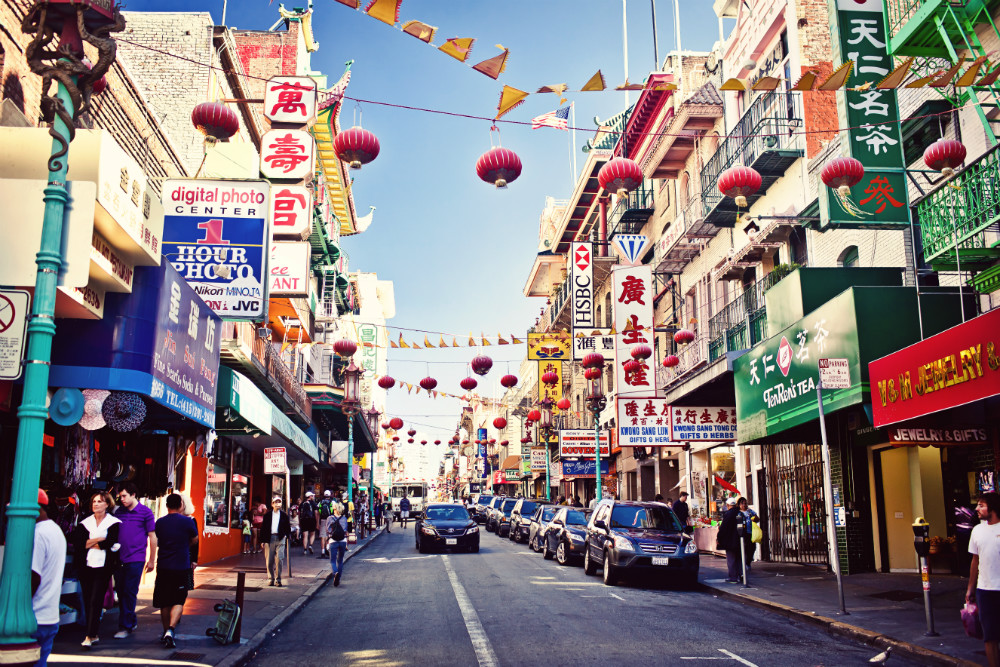 Daytime in Chinatown
