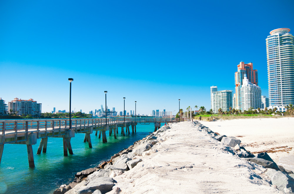 Beautiful old pier in Miami Beach Florida