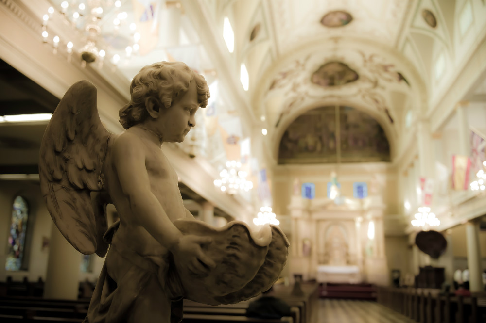 Cherub Statue in St Louis Cathedral