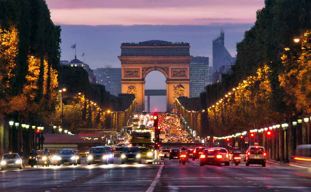 ChampsElysees at night