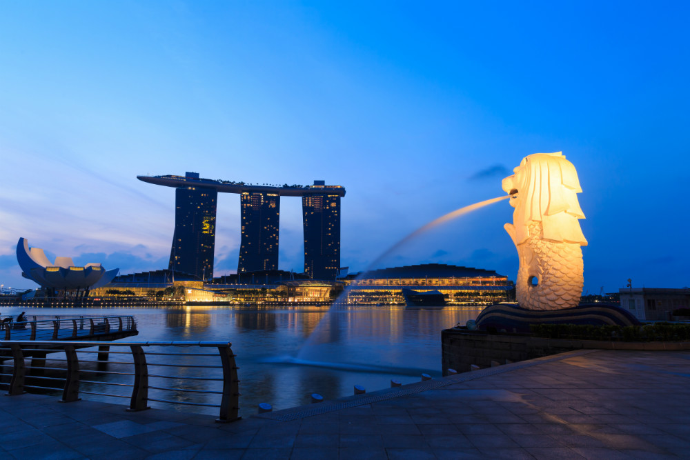 The Merlion Fountain