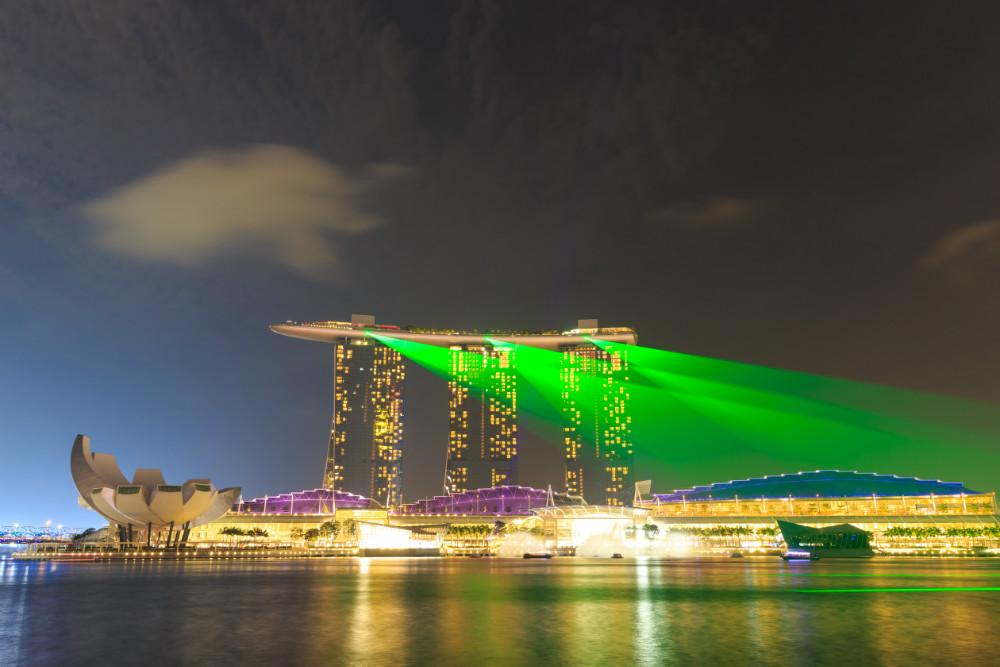 Laser Show Across Marina Bay