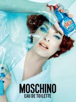 Longtime Jeremy Scott Favorite Linda Evangelista Stars in Moschino's Windex-Inspired Fragrance Campaign