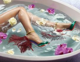 Christian Louboutin Takes A Bubble Bath in Latest Spring 2015 Lookbook