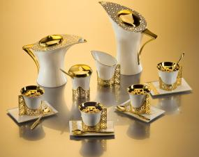Host the Ultimate Tea Party with the Gorgeous Arabesque Coffee & Tea Pot Set