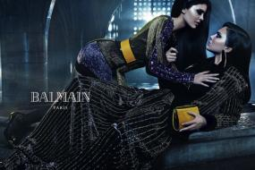 Kendall and Kylie Jenner Get Seductive in Sibling-Themed Balmain Campaign