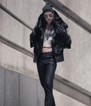 Heather Lawton Keeps Us Cool in Chic Furs, Edgy Leathers & Dark Tweeds This Fall