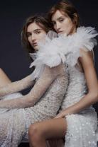 Vera Wang Uses Embrodery, Crystals and Just a Hint of Skin for a Perfect Fall Collection