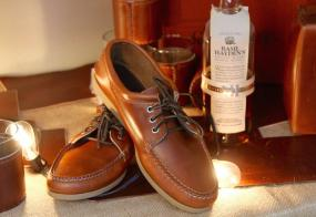 Basil Hayden�s + Quoddy shoes