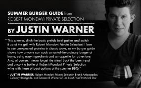 <i>Food Network</i> Star Justin Warner Breaks Down His 6 Favorite Burgers for Labor Day