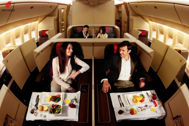 air china first class wine