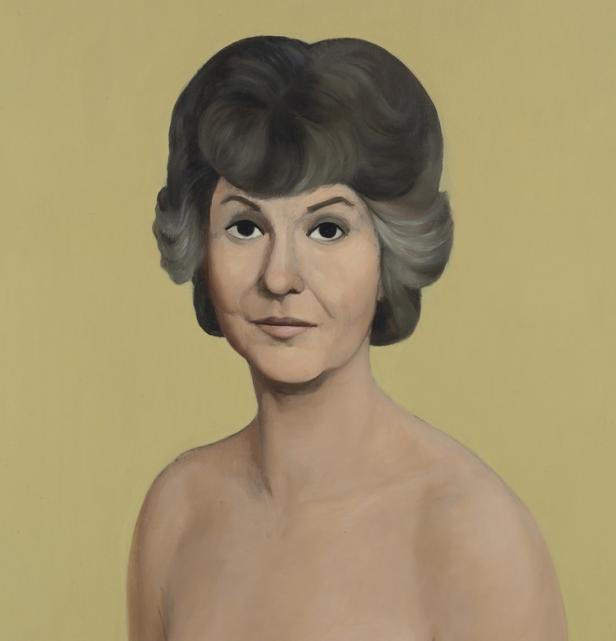 naked bea arthur painting