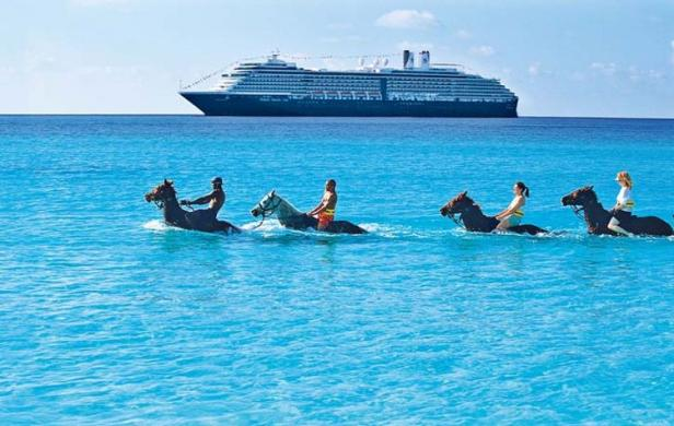 Holland America Cruises riding horses