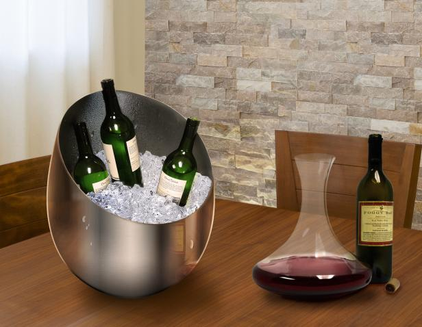 Epicureanist silver ice bucket