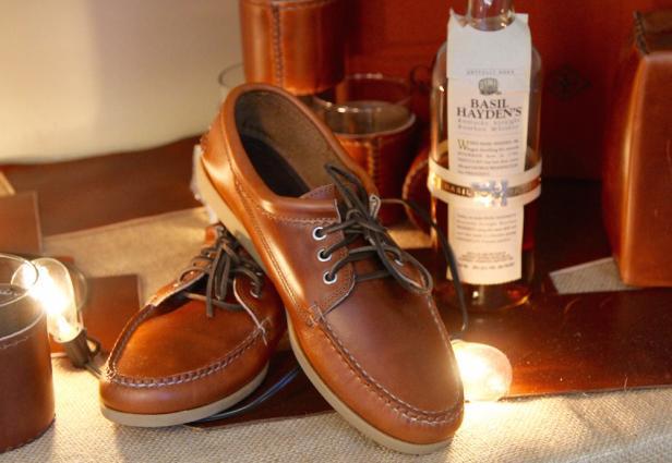Basil Hayden�s + Quoddy shoes