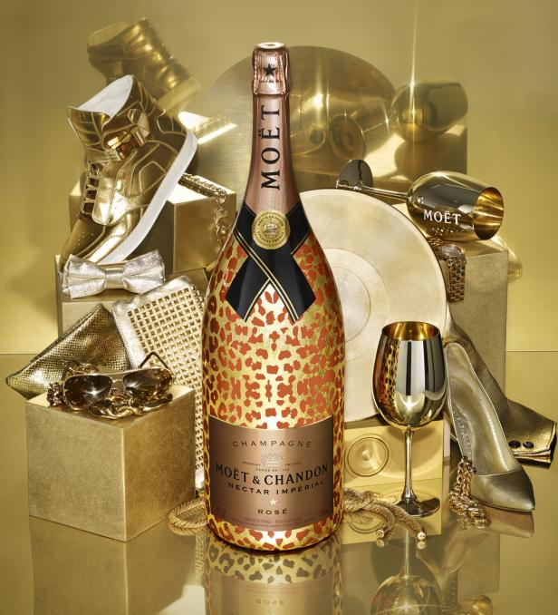 Mo�t & Chandon Nectar Imp�rial Ros� Leopard Champagne