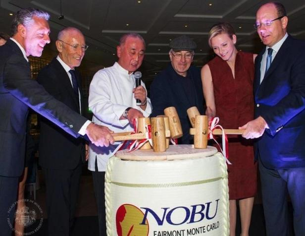 Robert DeNiro and Prince Albert New Nobu in Monaco