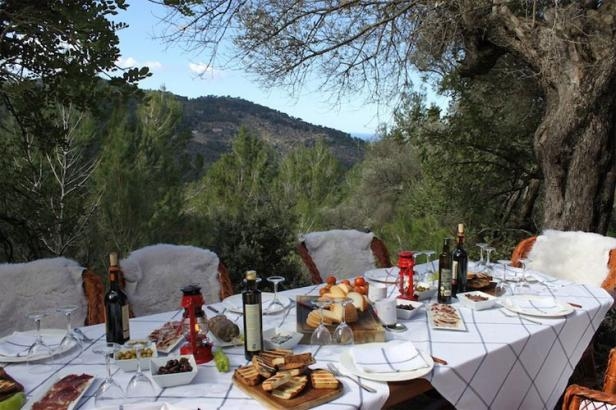La Residencia picnic table