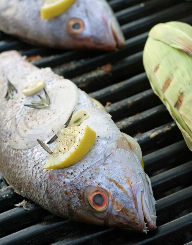 Grilled Whole Fish With Lemon And Tarragon