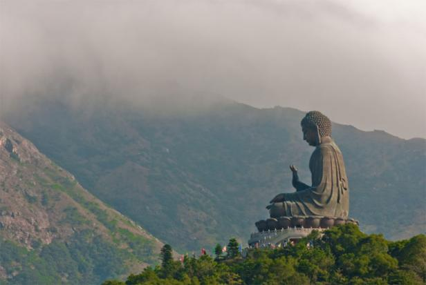 Giant Buddha statue at lantau Island, Hong Kong
