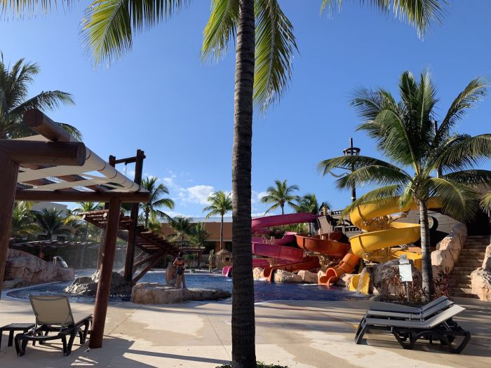 The kids water park at Barcelo Maya.