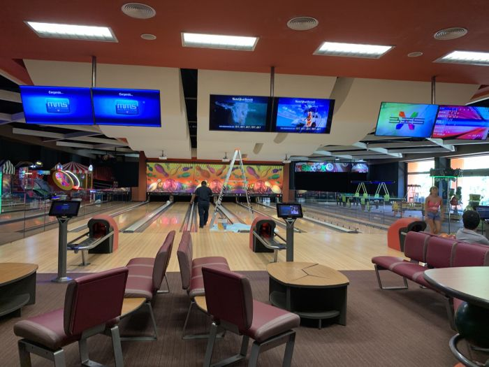 The bowling alley at Barcelo Maya near Cancun.