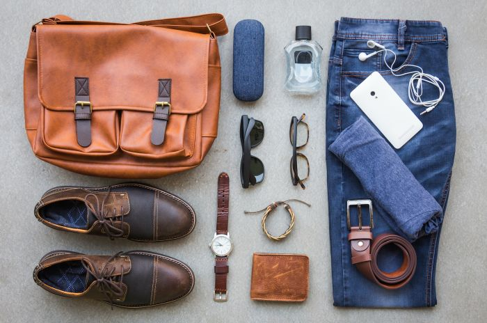 mens accessories flatlay