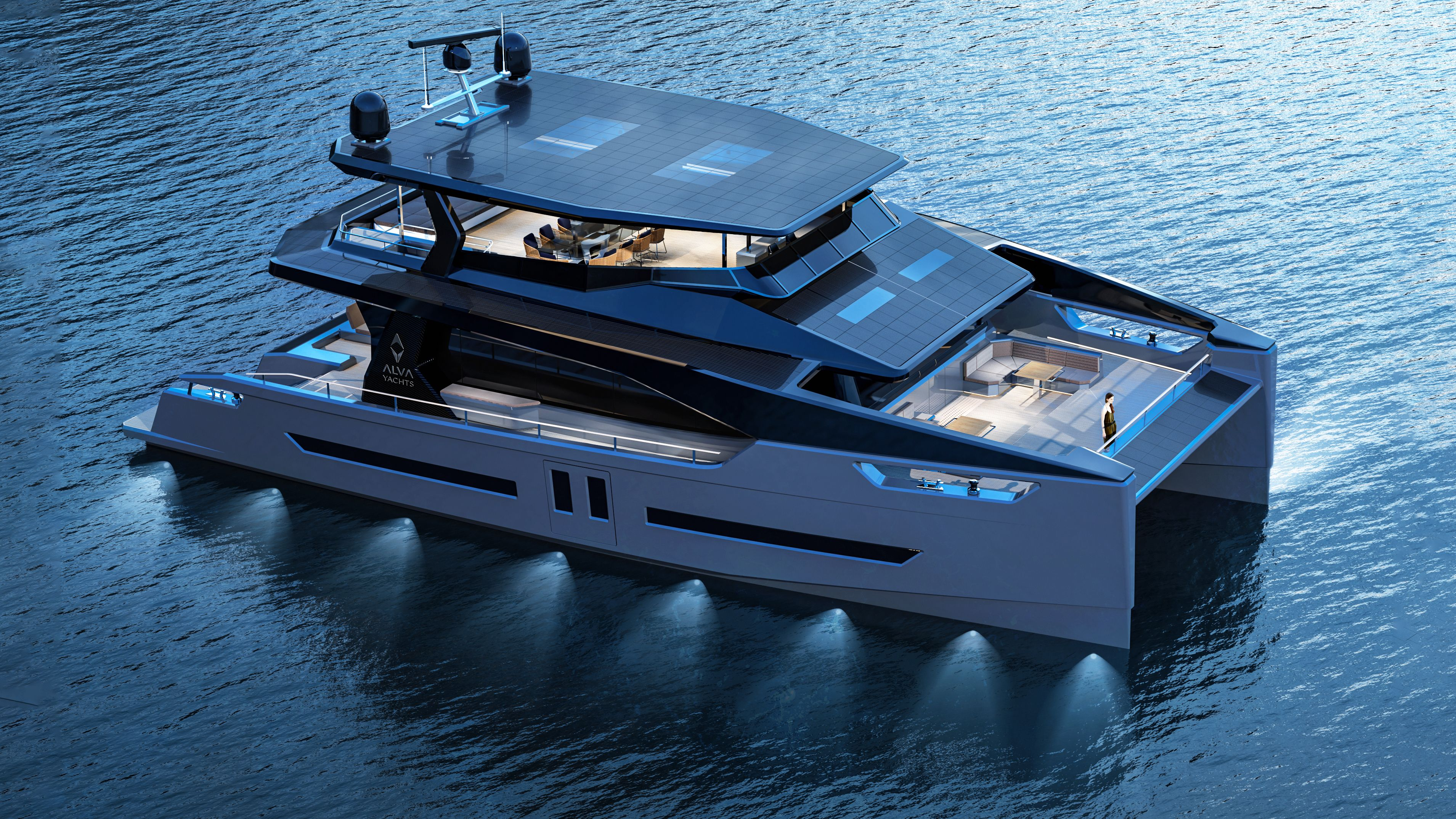 yacht concept, catamaran, luxury yacht