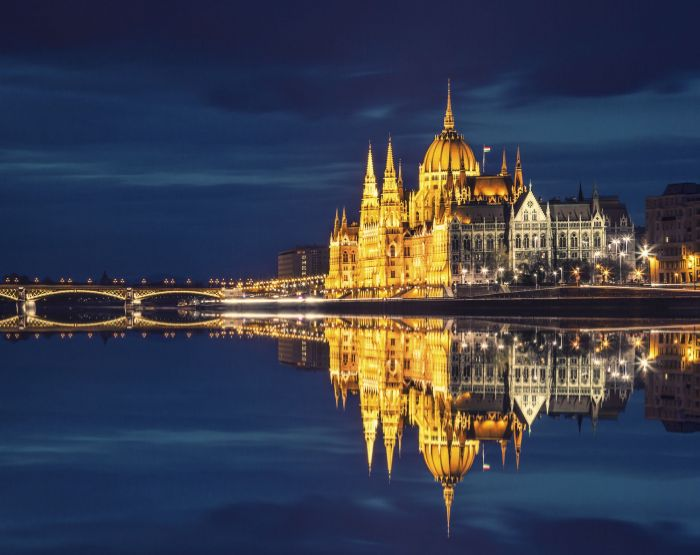 Budapest at night.