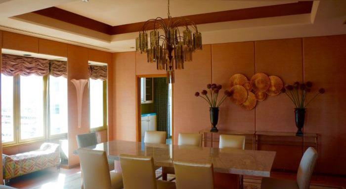 Dining area, Gaughan Suite
