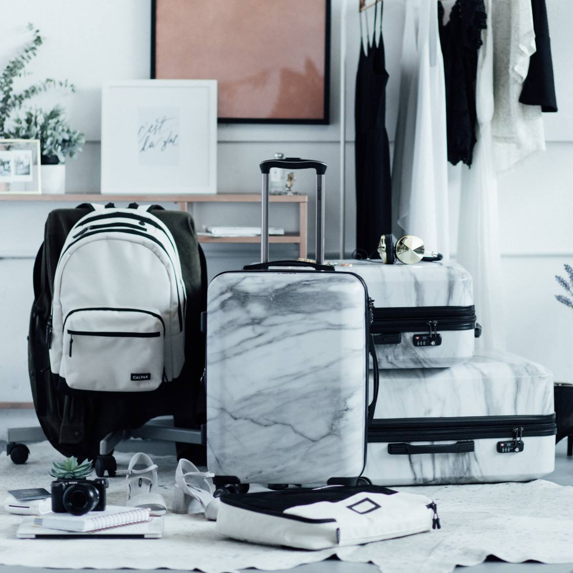 Asia Carrera Marble luggage as luxe as carrera marble