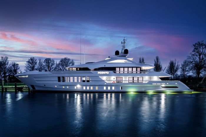Heesen Delivers 55m Moskito – The 'Shark-Tooth' Superyacht