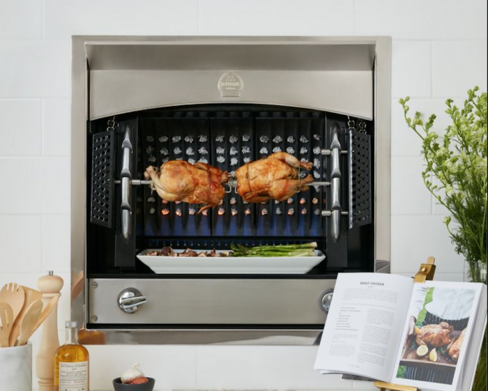La Cornue's Flamberge Rotisserie: A Modern Hearth for a Polished Kitchen