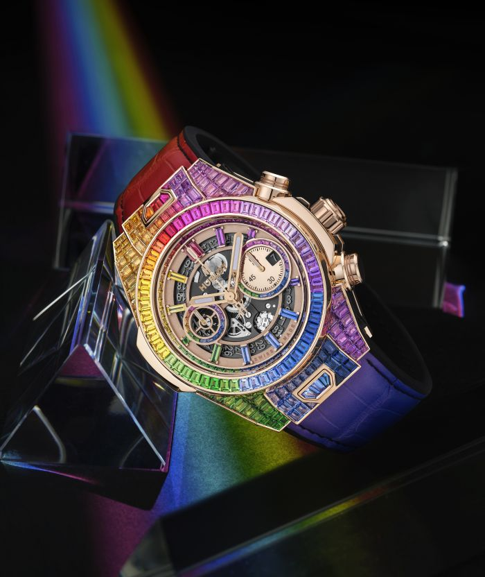 Hublot Big Bang Unico Full Baguette King Gold Rainbow